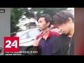 Индонезиец вышел из драки с серпом в голове