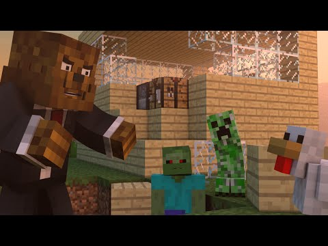 Minecraft Crazy Craft Animation - I HATE MY GIRLFRIEND