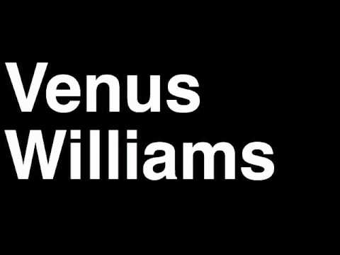 How to Pronounce Venus Williams USA Gold Medal Women's Tennis Doubles London 2012 Olympics Video