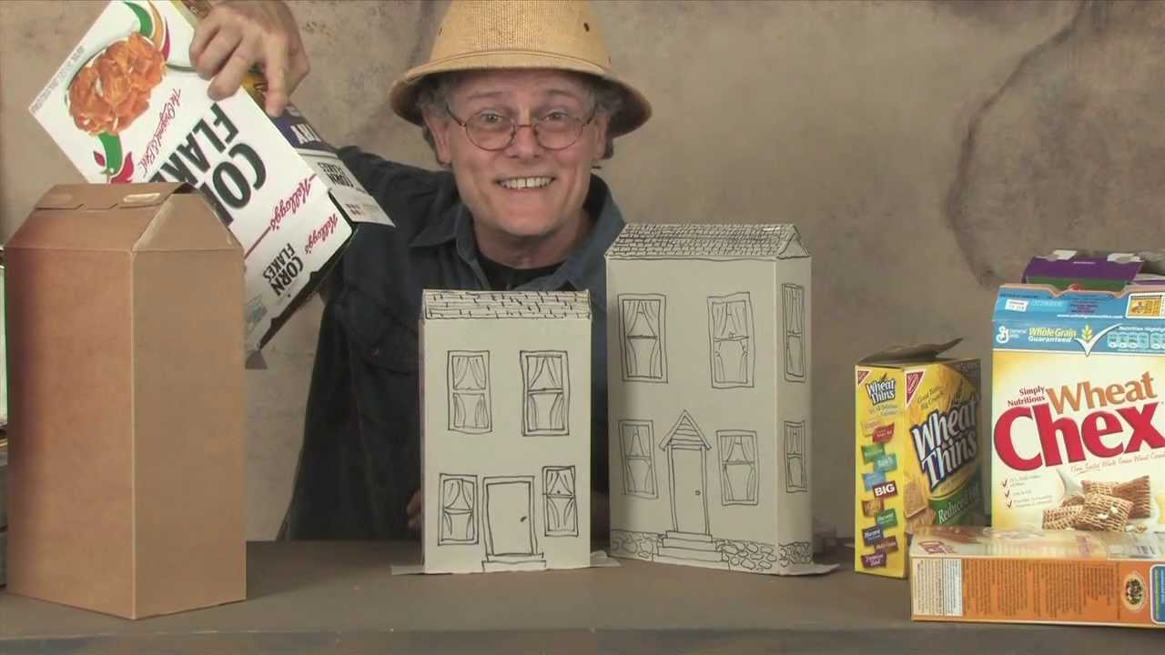 How to make cereal box houses youtube for What type of cardboard are cereal boxes made of