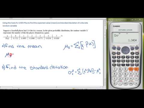 Using the Casio fx-115es Plus to find the Mean and Standard Deviation of a Discrete Random Variable