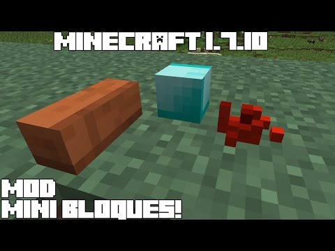 Minecraft 1.7.10 MOD MINI BLOQUES! LittleTiles Mod Review Español!