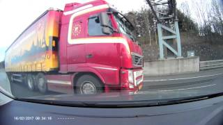 M6/M42 Accident 16-2-2017 Dashcam Footage