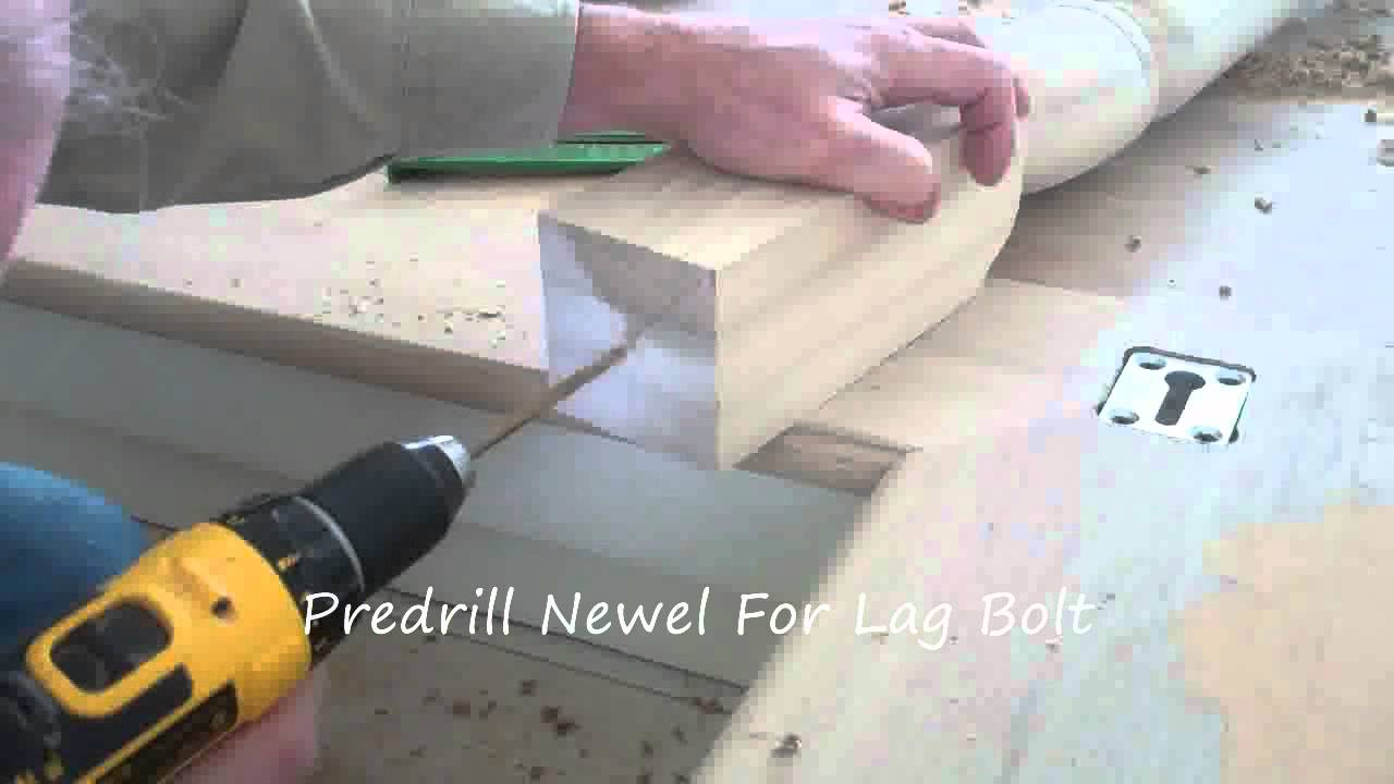 How To Secure A Newel Post Youtube