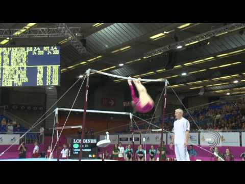 2012 Eurpean Championships Brussels 2012, Lisa VERSHUEREN (BEL) Uneven Bars