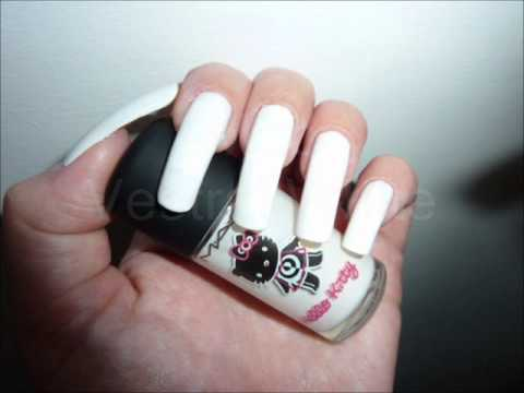 2 nail art  manicure designs on long real natural nails