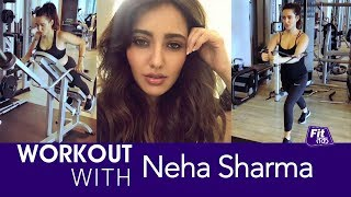 VIDEO: Actress Neha Sharma Workout Video Clip | Celebrity Fitness | Fit Tak