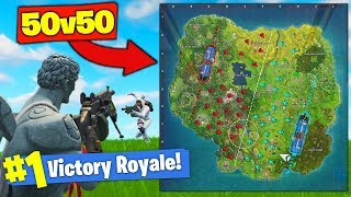 *NEW* 50 Vs. 50 MODE In Fortnite Battle Royale!