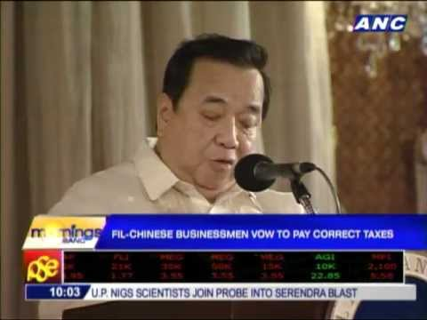 Fil-Chinese businessmen promise to pay correct taxes