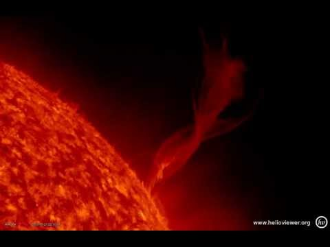 Prominence eruption, northwest of the Sun - NASA images of a solar flare  (May 21, 2013) - Video Vax