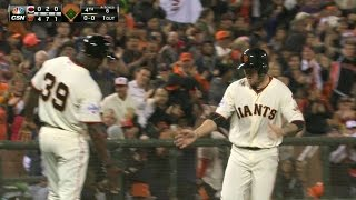 CIN@SF: Peavy ropes a solo homer to left-center
