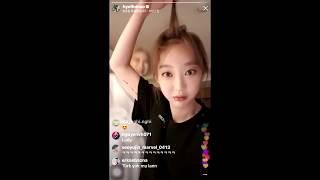 [Vietsub] Hyelin livestream trên Instagram [31.07.18]