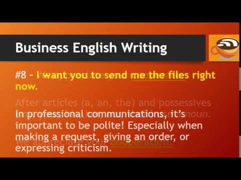 Business English - Writing Tips