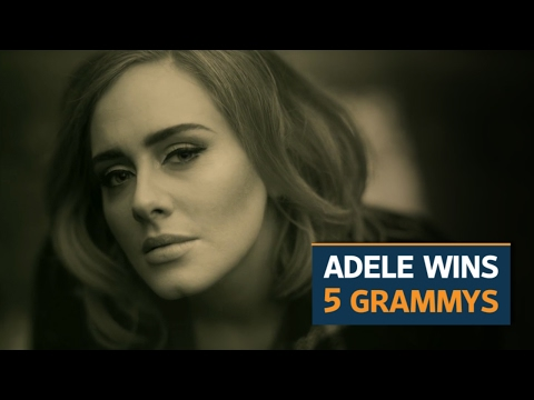 Adele sweeps 59th Grammys, wins top 3 categories