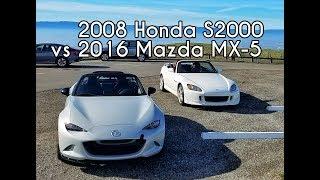 2008 Honda S2000 vs 2016 Mazda MX-5 Miata Club - Head to Head Review!