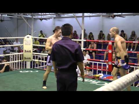 Matt (Sinbi Muay Thai) Stops his opponent with vicious leg kicks Image 1