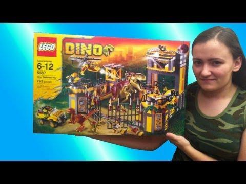 LEGO Dino Defense HQ 5887 Review - BrickQueen