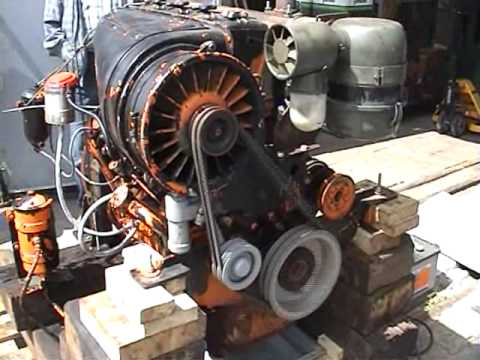 Testing A Deutz Diesel Engine Proefdraaien Deutz Youtube