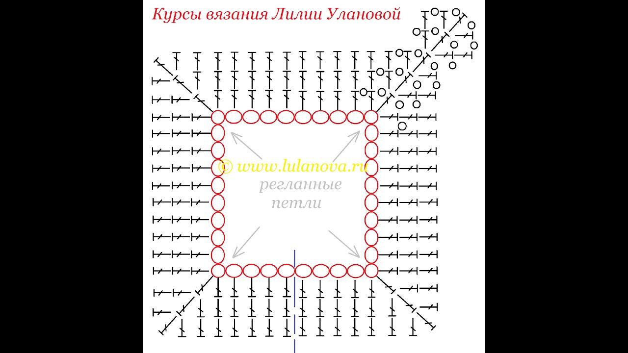 Вязание крючком реглан сверху схемы 38