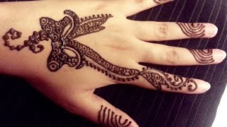 Pretty Ribbon Henna Design - Easy Bow Shaped Mehendi Design