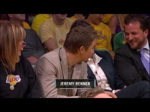 Jeremy Renner on NBA2012.Playoffs.R2G3.Thunder.vs.Lakers@杰瑞米雷纳中国后援会