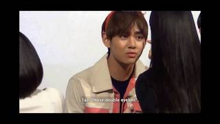(ENG SUB) V talks about double eyelids surgery @BTS Fan sign 151218