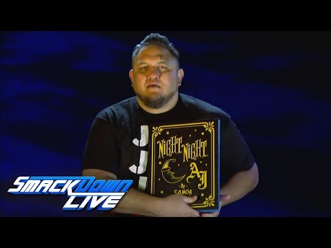 "Samoa Joe reads ""Night Night, AJ"": SmackDown LIVE, Sept. 11, 2018"