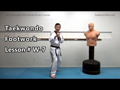 Taekwondo Footwork : Lesson # W-7 (taekwonwoo) video