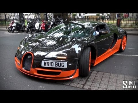 4 Ultimate Veyrons in London - Super Sport WRE, WRC and 2 Vitesses
