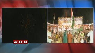 West Bengal Minister Anup Hoists National flag At Midnight