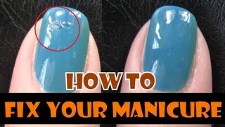 HOW TO FIX YOUR MANICURE | LEARN NAILS TECHNICIAN TIPS TRICKS AT HOME EASY REPAIR FOR BEGINNERS