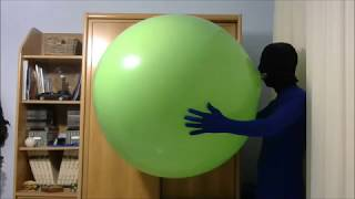 Blow to pop Unique 36'' lime green balloon
