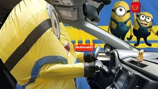 Minion Driving to McDonald's For Happy Meal | The Minions Family