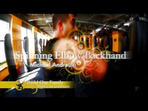 Get Ripped In One Move Series - v 97 - How To Throw An Spinning Elbow - Kickboxing MMA Heavy Bag Image 1