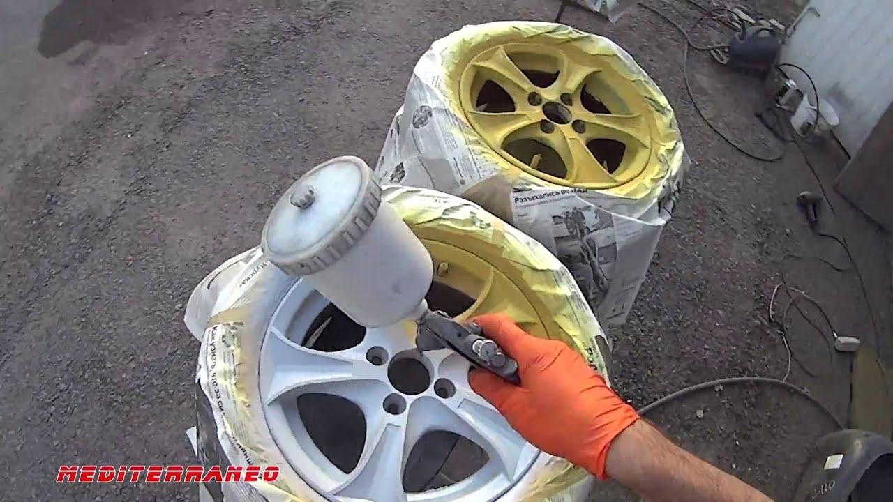 Ремонт колеса автомобиля своими руками