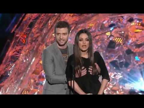 Mila Kunis and Justin Timberlake   Funny Moment