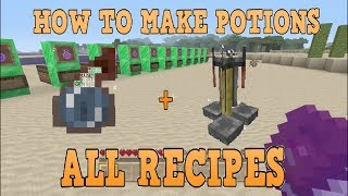 How To Make Potions After All Updates + All Recipes Minecraft