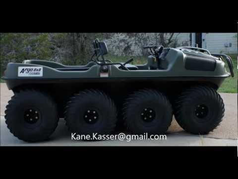 Side By Side Atv >> 2010 ARGO 8X8 750HDI UTV-ATV Amphibious Vehicle - YouTube