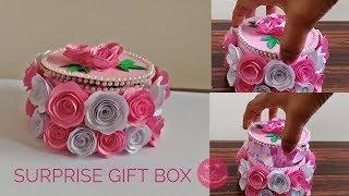 Amazing SURPRISE gift box for birthday   Valentine's Day   anniversary   DIY tape roll gift box