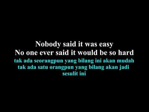 Coldplay  - The Scientist lirik dan arti bahasa indonesia