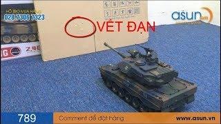 Xe Tăng Điều Khiển Từ Xa Bắn Đạn Có Khói 789-4 Tank Leopard 2 Bánh Xích - Asun.vn