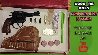 Full metal revolver seven shot Unboxing . (Full metal cap revolver) 😍😍😍😍😍 gun