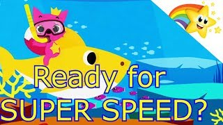 ⭐ BABY SHARK ⭐ Dance for Children - Can you keep up?? Kids SUPER SPEED!! Faster