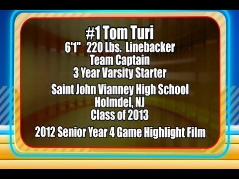 2012 Tom Turi Senior Year 4 Game Football Highlight Film Recruiting Tape