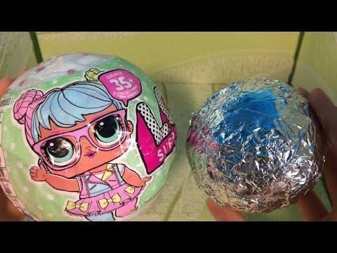 Самодельные LOL |Близняшки в 1 шаре ? | 2 куклы LOL в одном шаре??