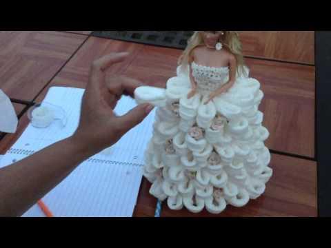 Barbie Recuerdo Para Quinceñera usando papel higenico