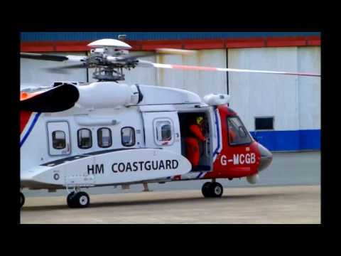 Coastguard Rescue Helicopters In Action