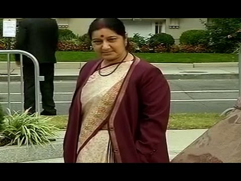 Live pictures of Sushma Swaraj, PM Narendra Modi in Washington DC