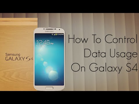 How To Control The Data Usage On Galaxy S4 - 2G / 3G Internet