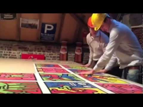 Keith Haring Ravensburger puzzle 32000 pieces ( The bet )